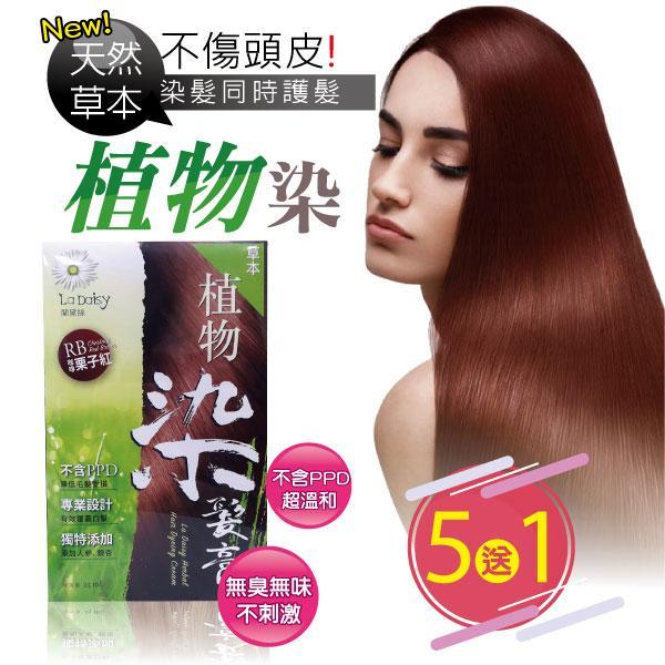 天然草本染髮膏(栗子紅)5盒